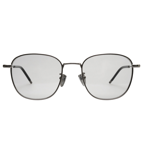 Holden Caulfield [rectangle] - Dark Nickel(Gray Tint Sunglasses)